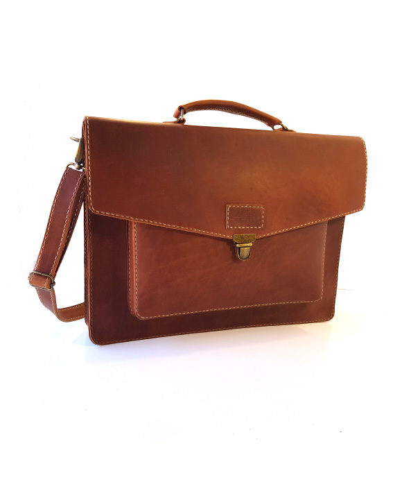 Hudson leather satchel by Wanderer Handcrafted Leather