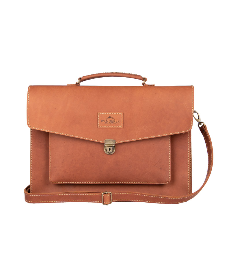 Hudson Leather bag by Wanderer Handcrafted Leather