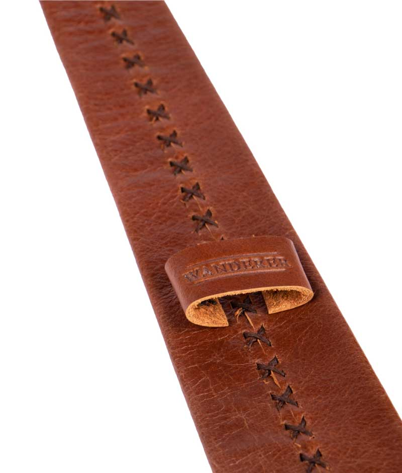 Leather Necktie Handstitched by Wanderer Handcrafted Leather