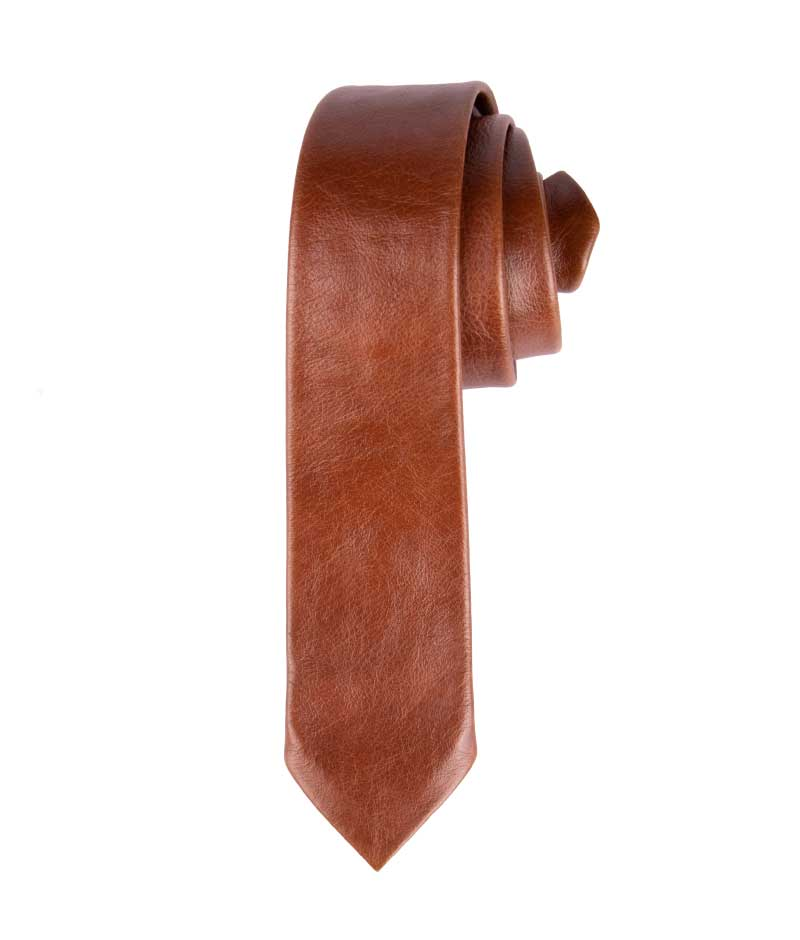 Leather necktie by wanderer handcrafted Leather