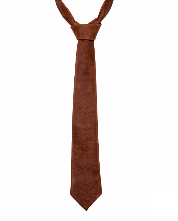 Genuine Leather Necktie crafted by Wanderer Handcrafted Leather