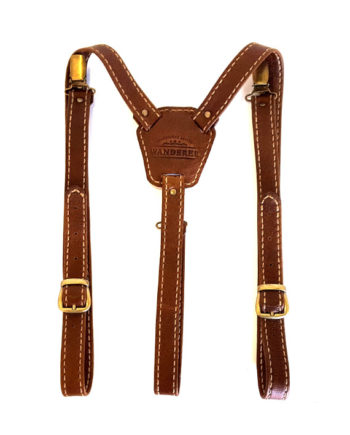 Leather suspenders by Wanderer Handcrafted Leather