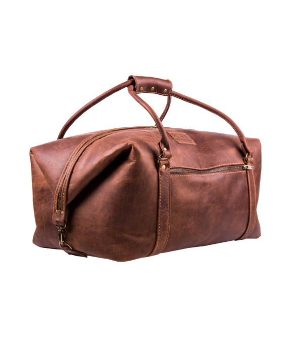 Livingstone leather travel bag by Wanderer Handcrafted Leather