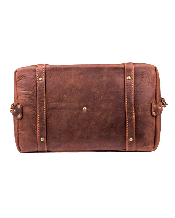 Handcrafted leather travelbag by Wanderer, Livingstone