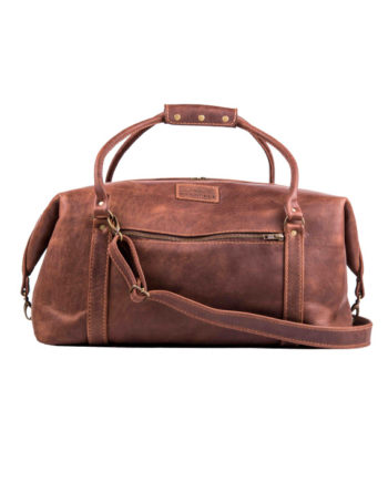 Livingstone Hand Stitched leather travelbag in Antique colour by Wanderer