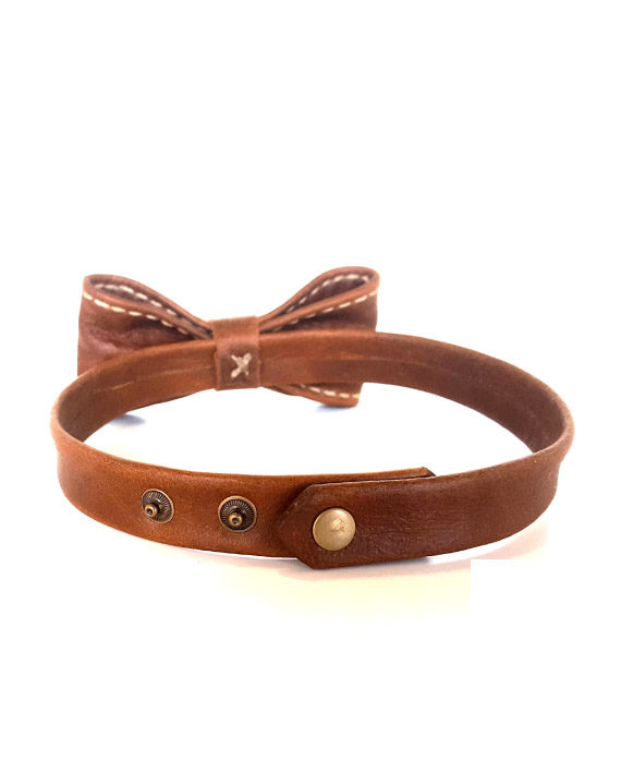 Handcrafted Leather Bowtie by Wanderer