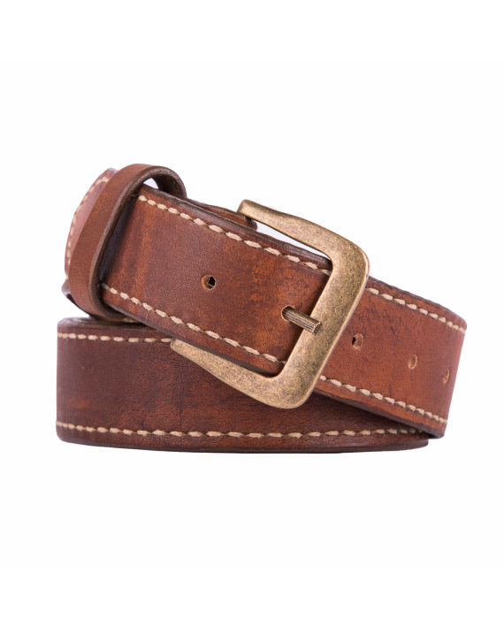Men's genuine leather belt from Wanderer Handcrafted Leather