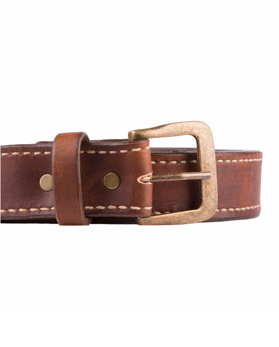 Men's Hand Stitched leather belt by Wanderer Handcrafted Leather