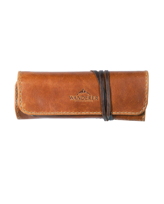 Travel Jewellery Organiser made by Wanderer Handcrafted Leather